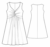 Летние платья из крепа выкройки