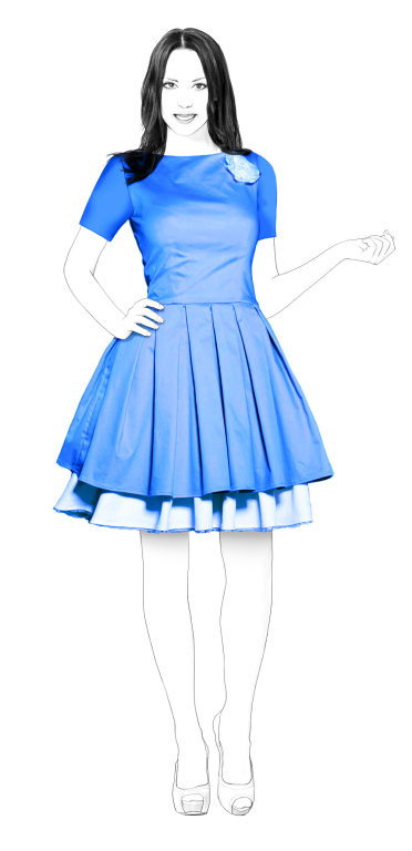 dress with pleated skirt sewing pattern s4002 made to