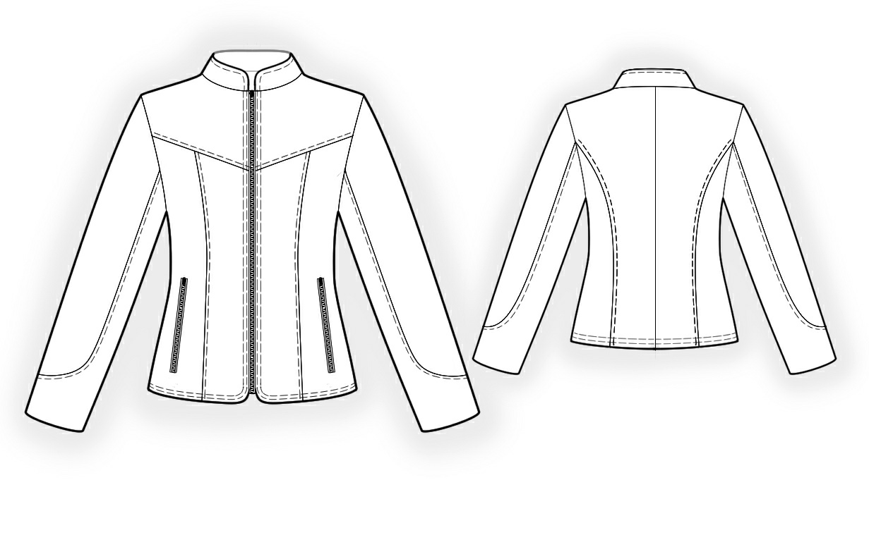 Leather Jacket - Sewing Pattern #4296. Made-to-measure sewing pattern