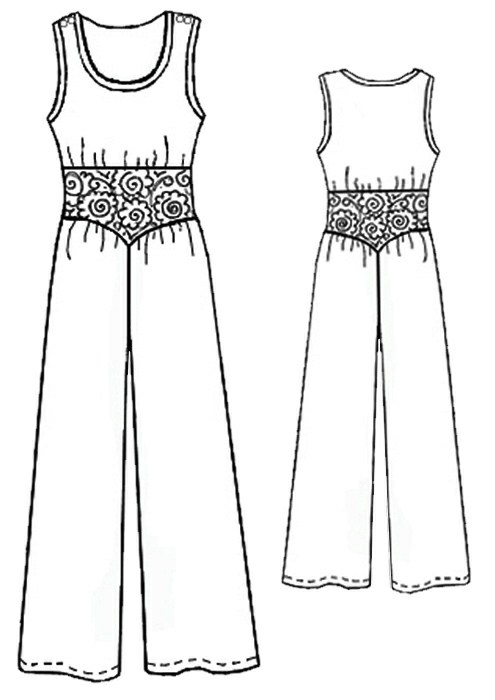 Overall - Sewing Pattern #5240. Made-to-measure sewing pattern from ...