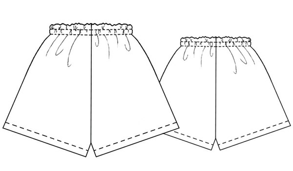 Underwear Set (Shorts) - Sewing Pattern #5229. Made-to-measure ...