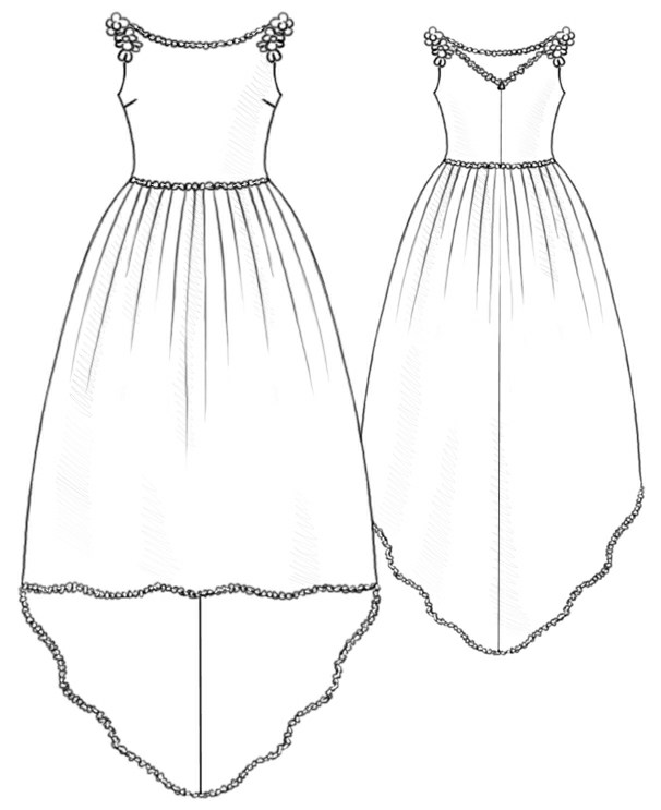 Wedding Dress - Sewing Pattern #5212. Made-to-measure sewing pattern ...