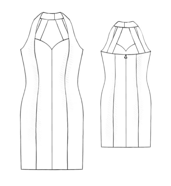 Little Black Dress - Sewing Pattern -5203. Made-to-measure sewing ...