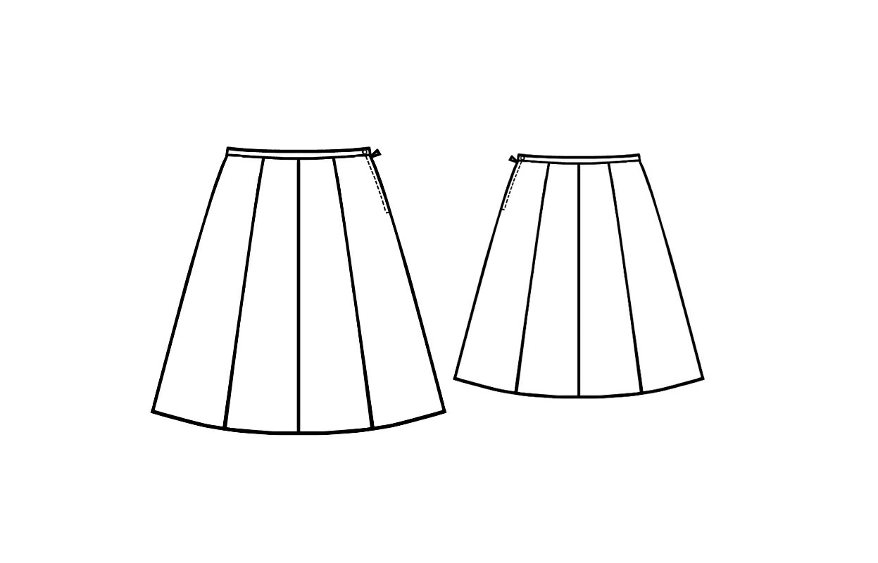 Eight-Gusset Skirt - Sewing Pattern #5153. Made-to-measure sewing ...
