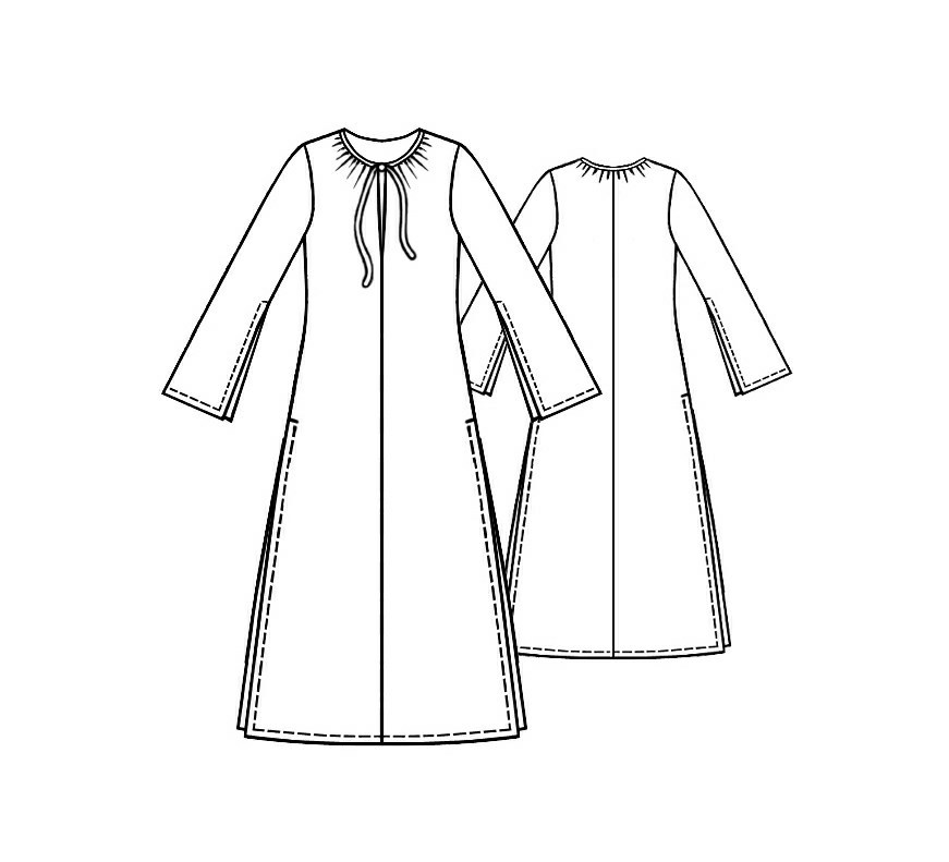 Tunic Dress - Sewing Pattern #5113. Made-to-measure sewing pattern ...
