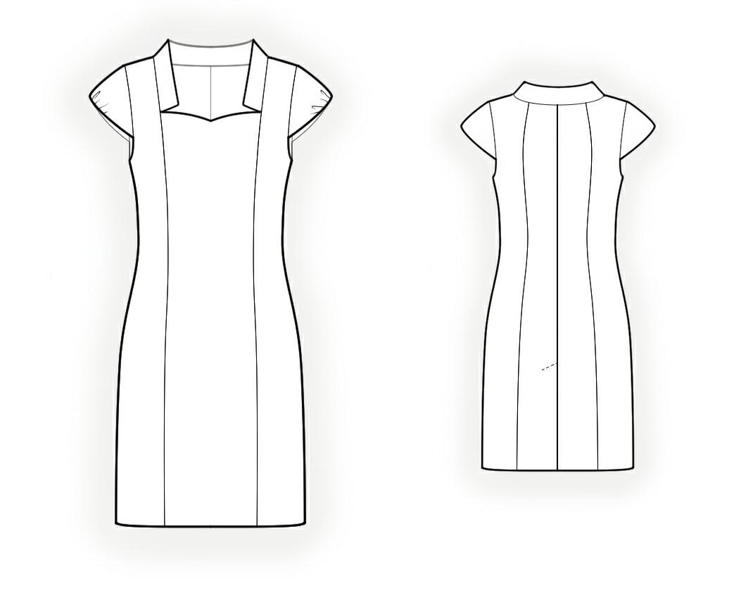 Dress with princess seams sewing pattern 4184 made to measure dress with princess seams sewing pattern 4184 jeuxipadfo Gallery