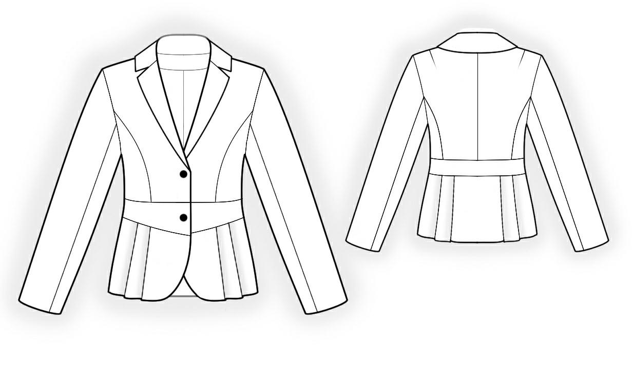 Jacket With Peplum Pattern Jacket With Pleated Peplum