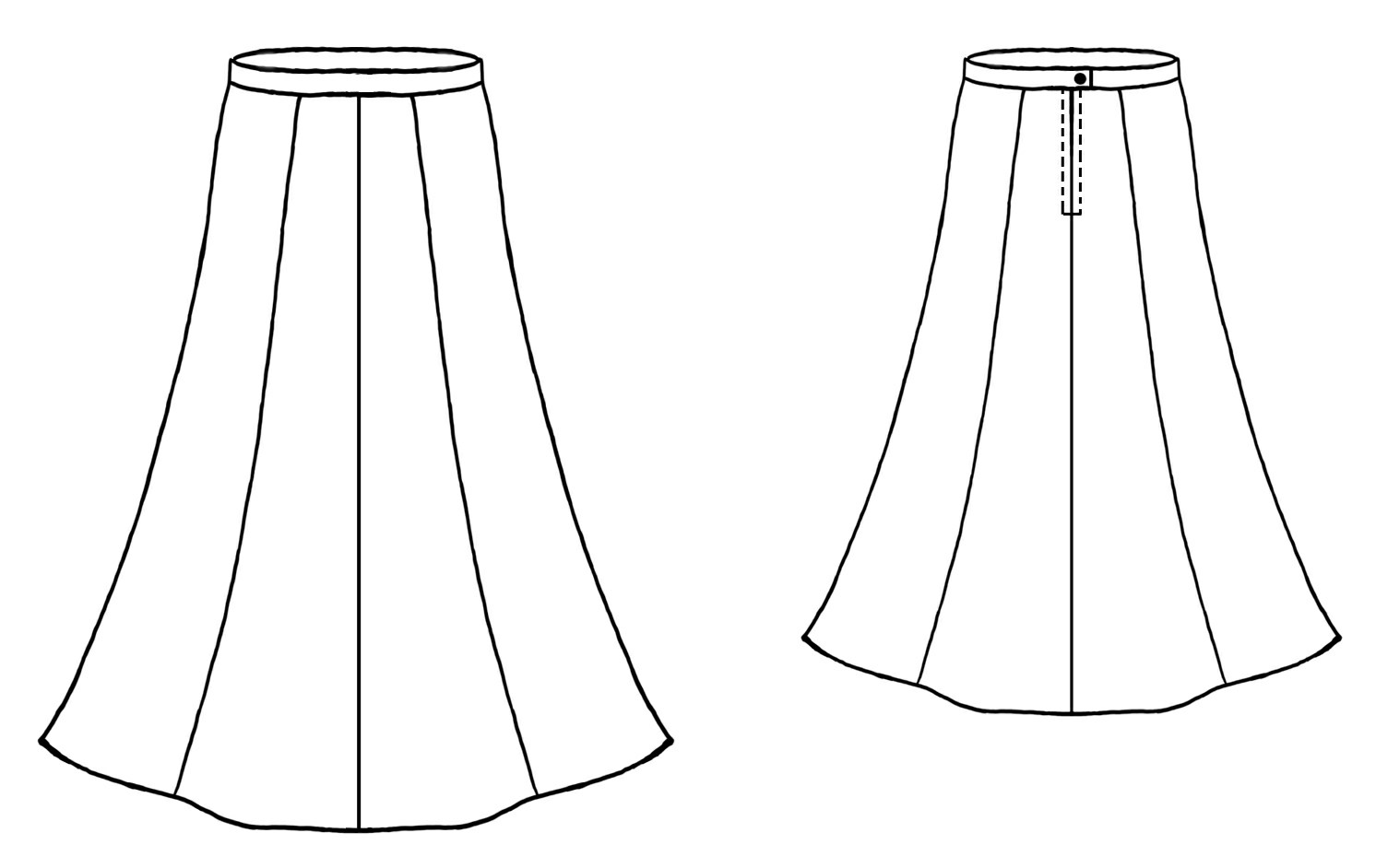 Trumpet Skirt Sewing Pattern 5028 Made To Measure
