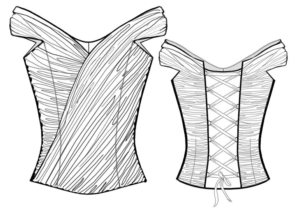 Corset - Sewing Pattern #2016. Made-to-measure sewing pattern from ...
