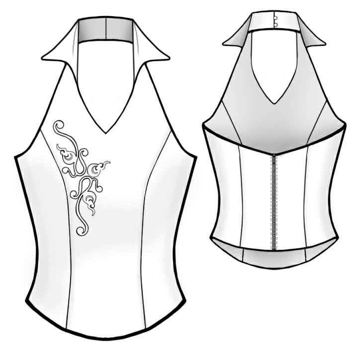 Corset - Sewing Pattern #2006. Made-to-measure sewing pattern from ...