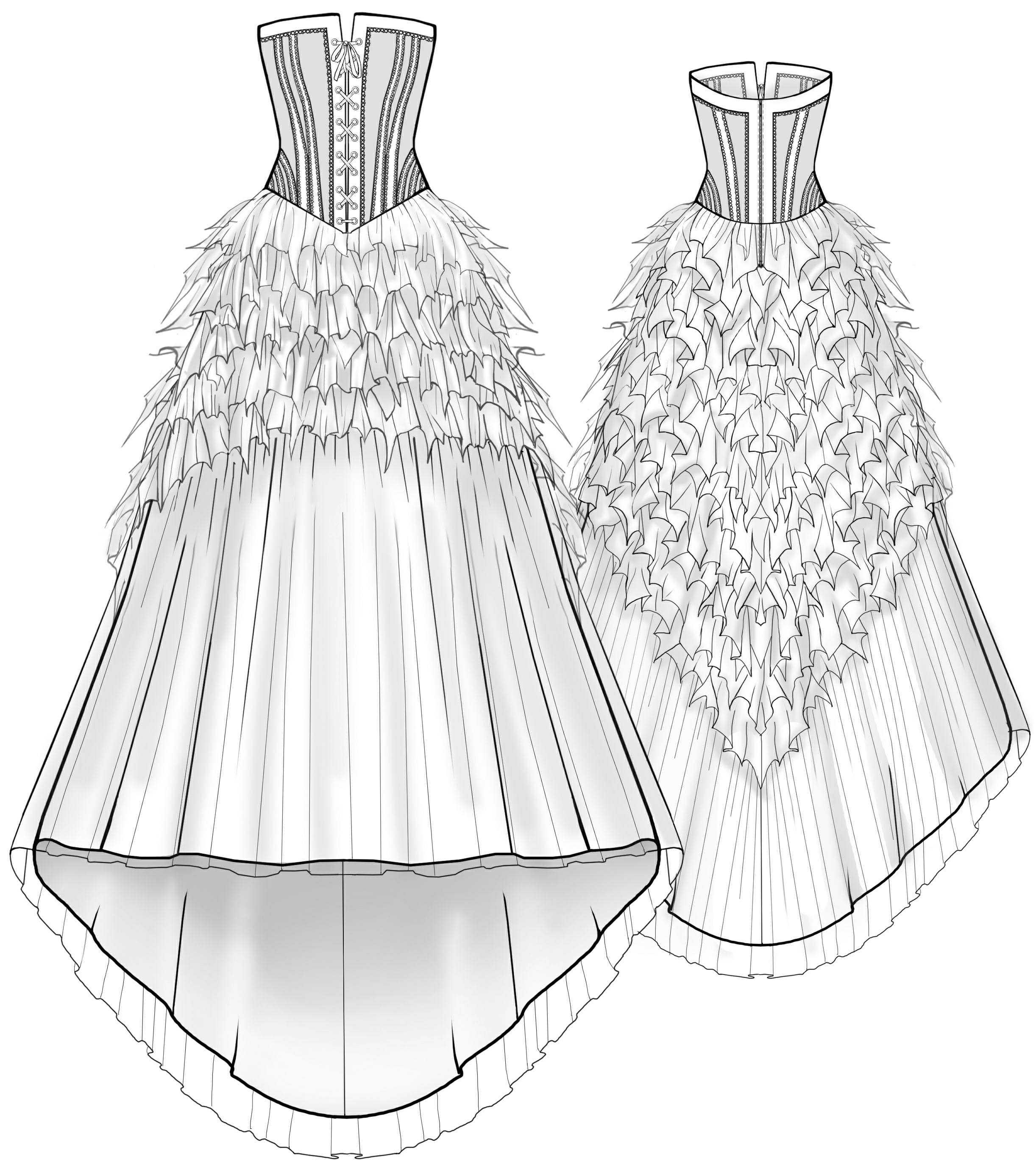 Свадебное платье своими руками выкройки фото