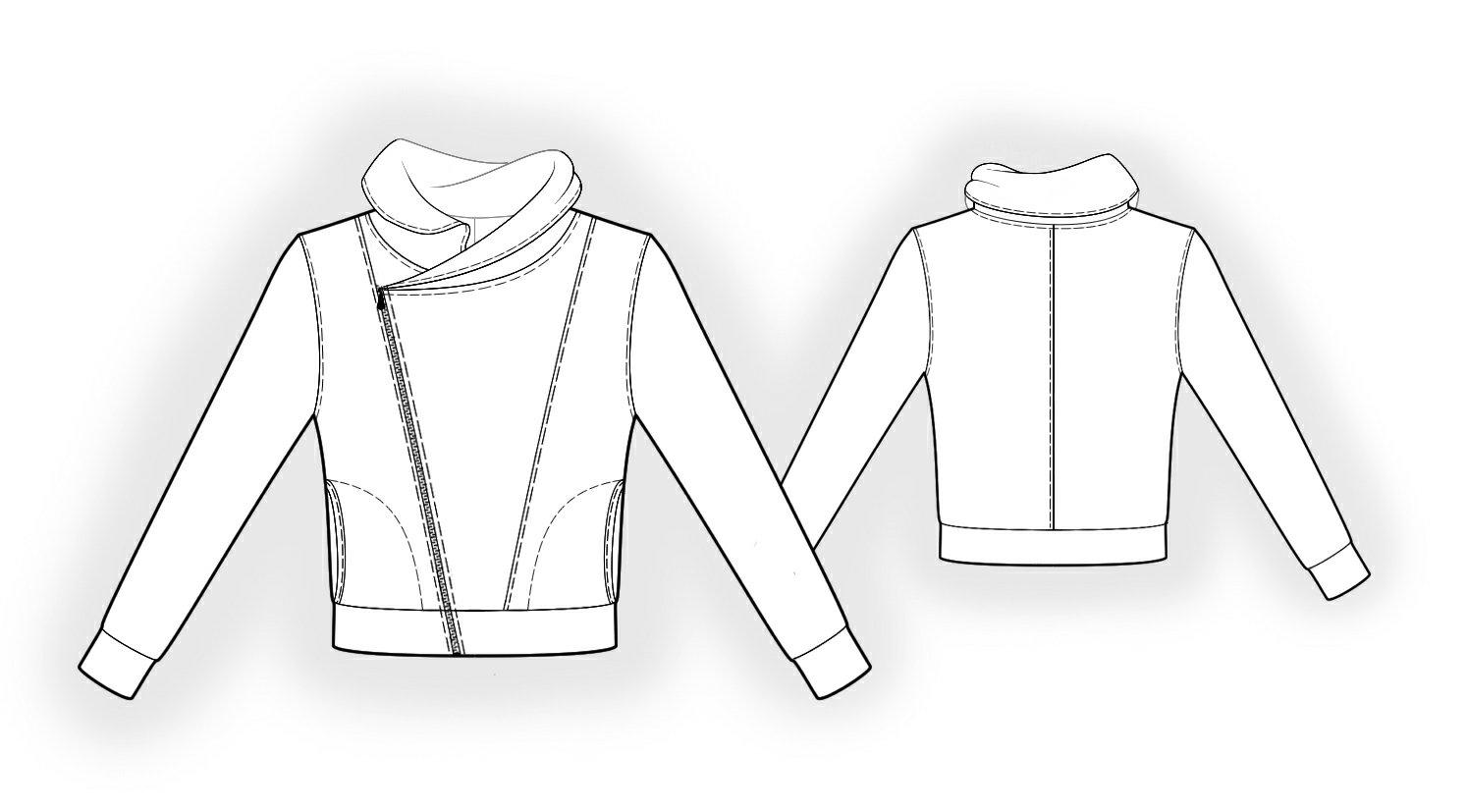 Sweatshirt - Sewing Pattern #6131. Made-to-measure sewing pattern ...