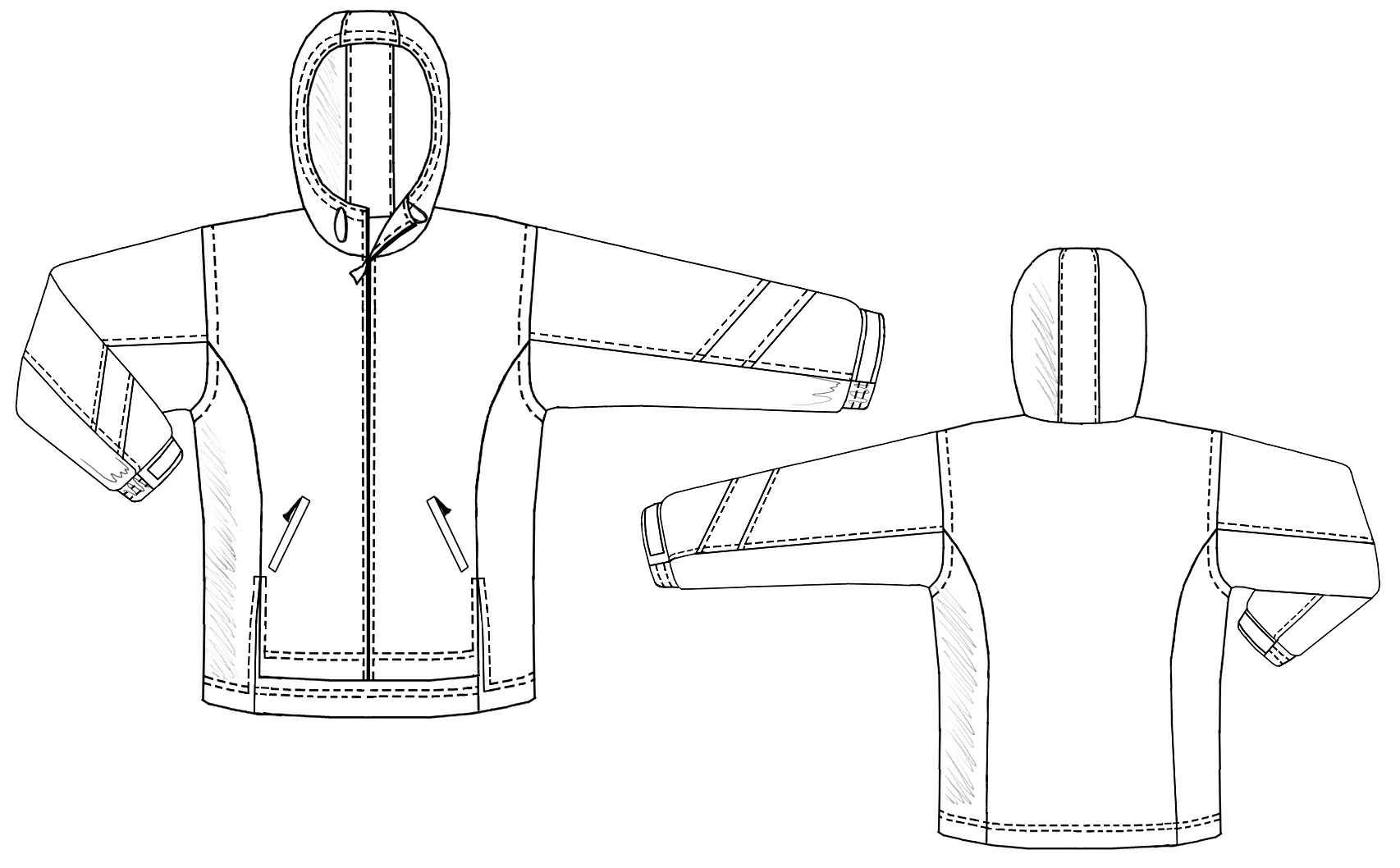 wind jacket sewing pattern 6117 madetomeasure sewing