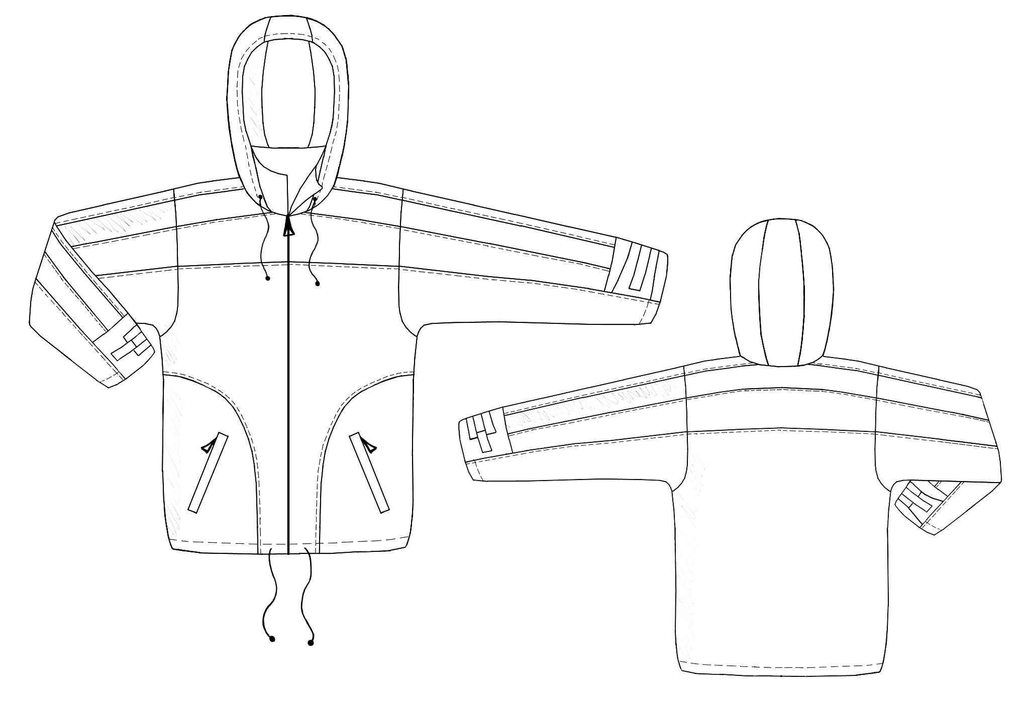 Jacket With Removable Hood Sewing Pattern 6116 Made To Measure
