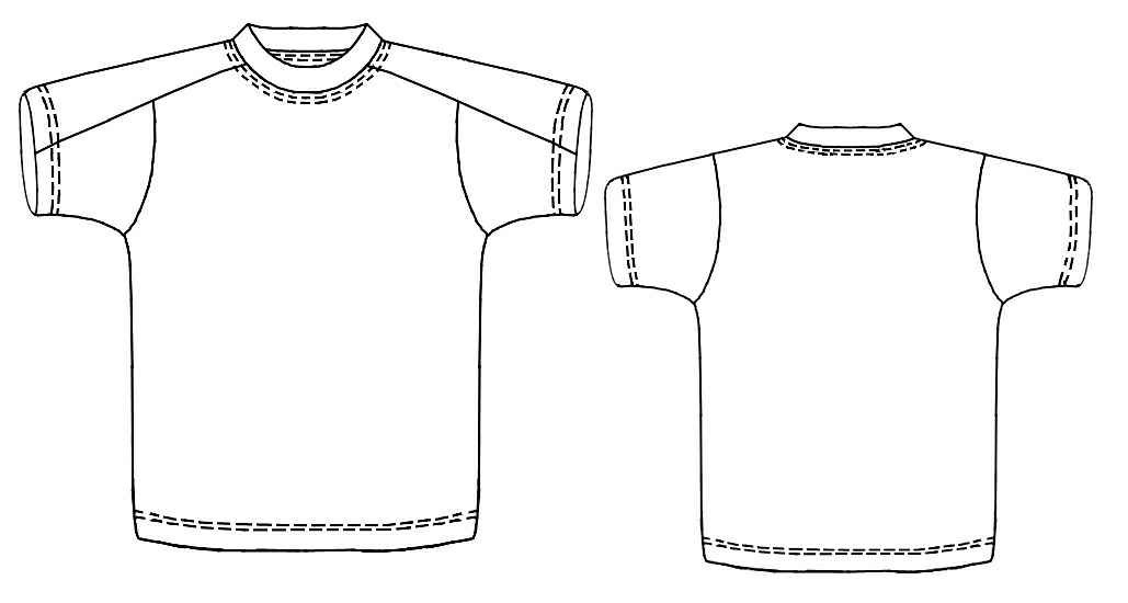 T-Shirt With Yoke - Sewing Pattern #6106. Made-to-measure sewing ...