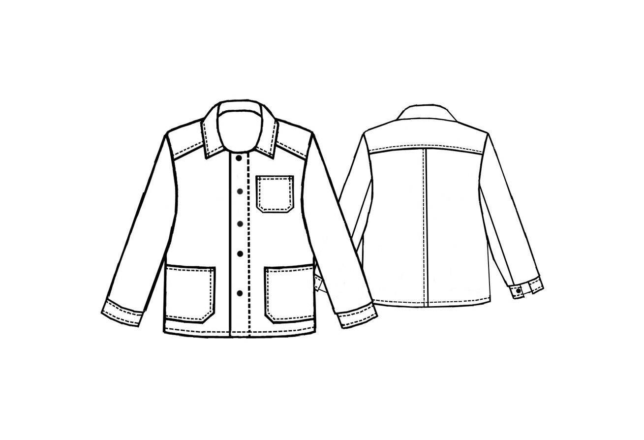 Jacket - Sewing Pattern #6087. Made-to-measure sewing pattern from ...