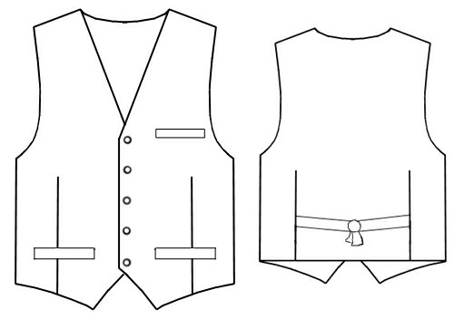Waistcoat Sewing Pattern 6063 Made To Measure Sewing