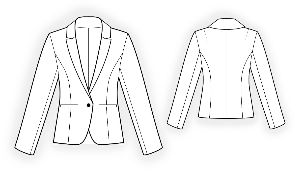 Classical Jacket Sewing Pattern 4162 Made To Measure Sewing