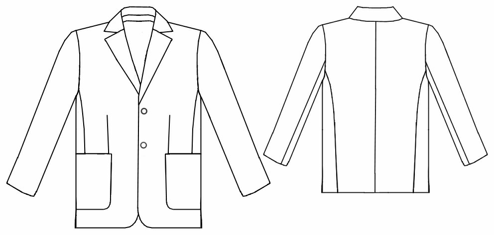Suit (Jacket) - Sewing Pattern #6052. Made-to-measure sewing pattern ...