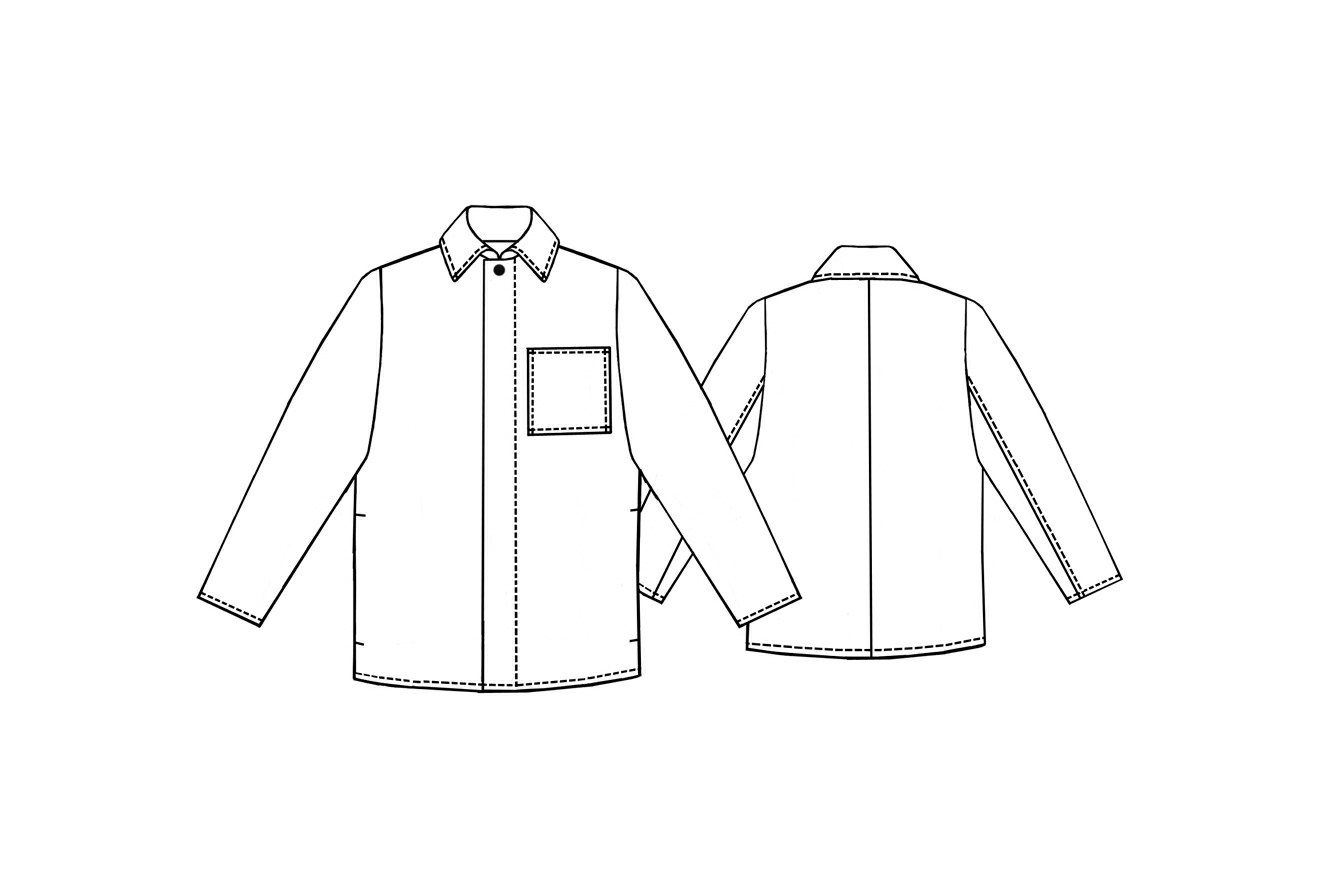 Workwear (Jacket) - Sewing Pattern #6036. Made-to-measure sewing ...