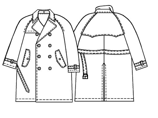 Trench Coat Sewing Pattern 6030 Made To Measure Sewing Pattern
