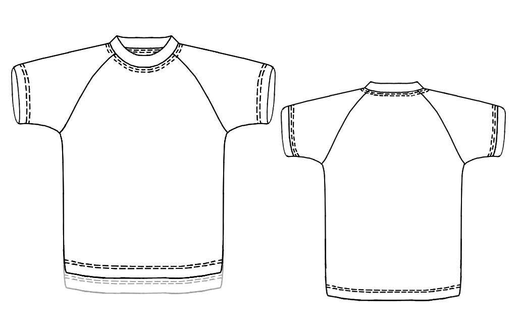 T Shirt With Raglan Sleeves Sewing Pattern 7163 Made To Measure
