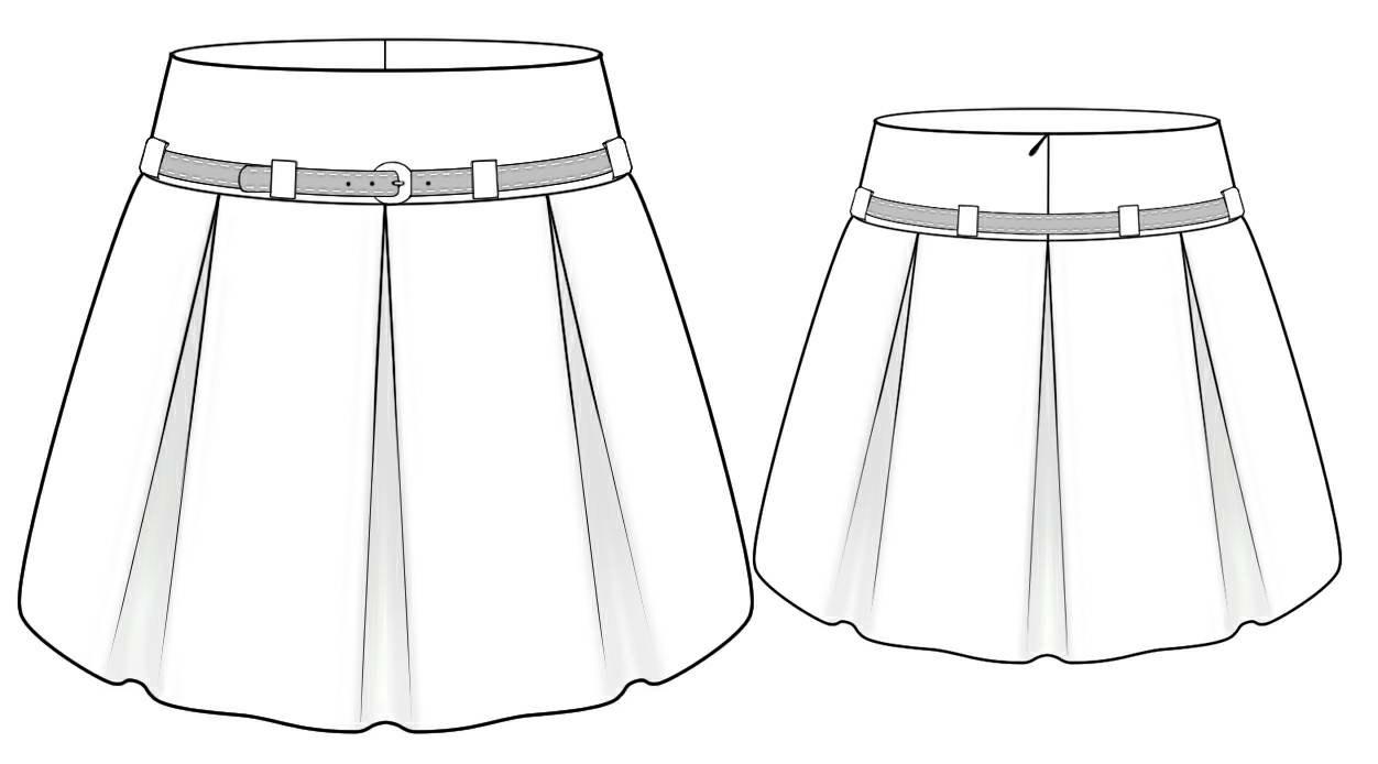 Сшить юбку со складками своими руками с карманами