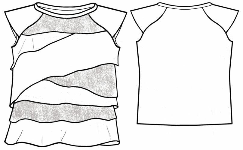 T-Shirt - Sewing Pattern #7117. Made-to-measure sewing pattern from ...