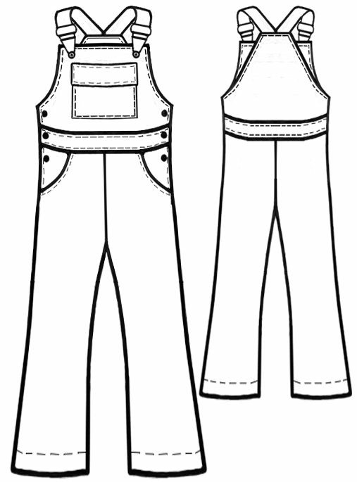 Overall Sewing Pattern 7113 Made To Measure Sewing Pattern From