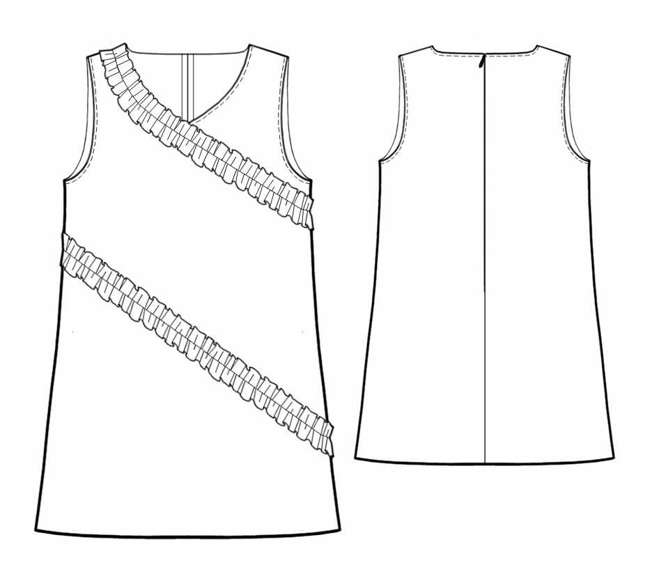 Выкройки летнего платья своими руками с рюшей