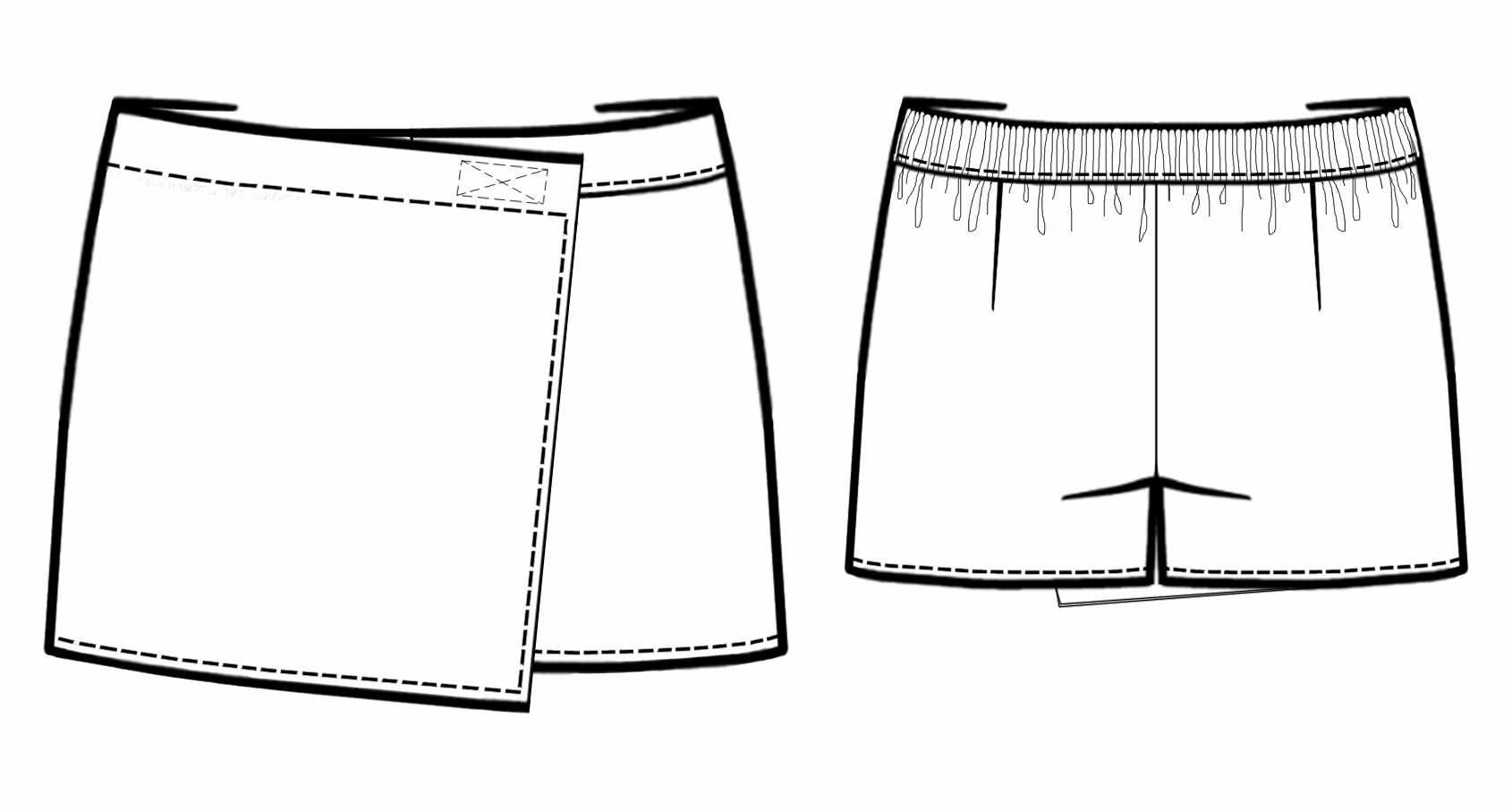 Юбка-шорты для девочки своими руками выкройки