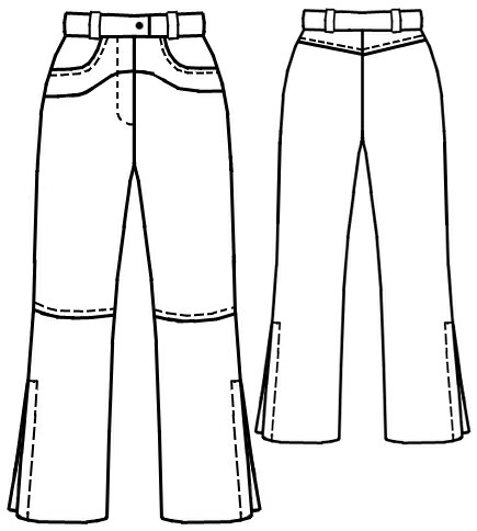Jeans - Sewing Pattern #7053. Made-to-measure sewing pattern from ...