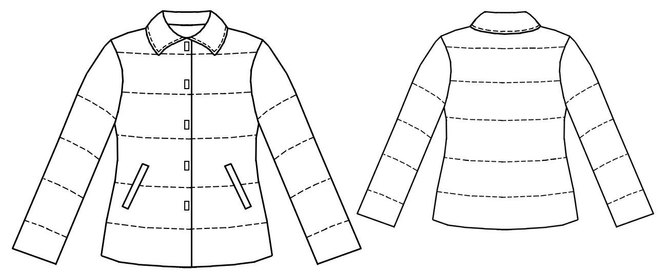 Выкройка стеганный куртка 54 размера
