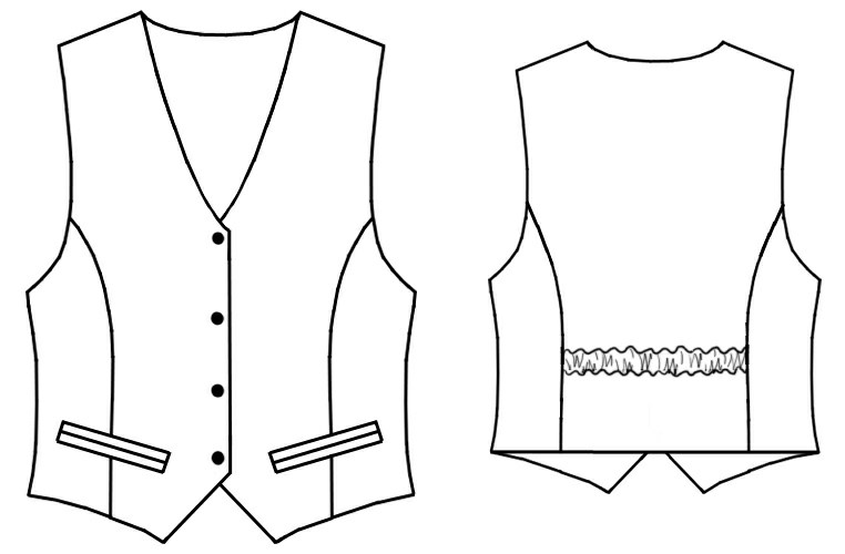 Waistcoat Sewing Pattern 7049 Made To Measure Sewing