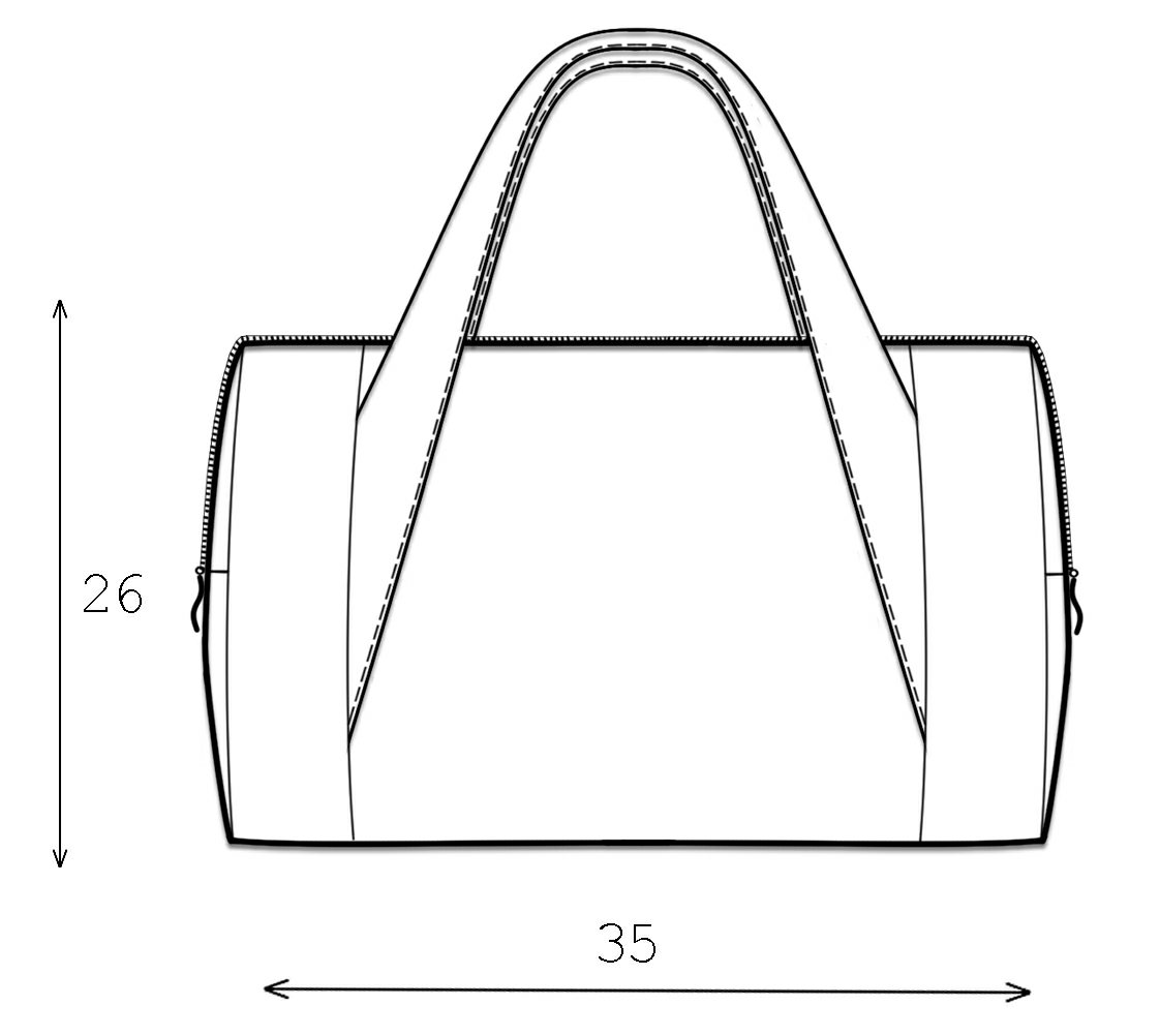 Bag - Sewing Pattern #3015. Made-to-measure sewing pattern from ...