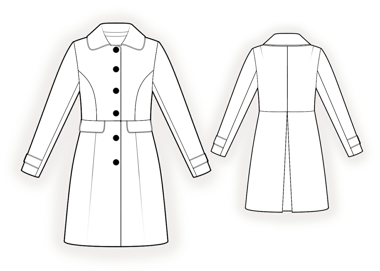 Coat - Sewing Pattern #4333. Made-to-measure sewing pattern from ...