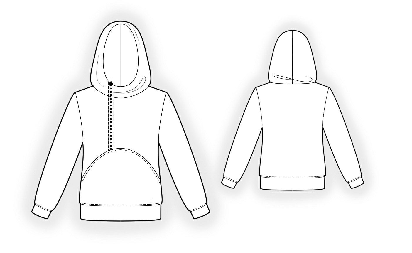 Hoodie - Sewing Pattern #4341. Made-to-measure sewing pattern from ...