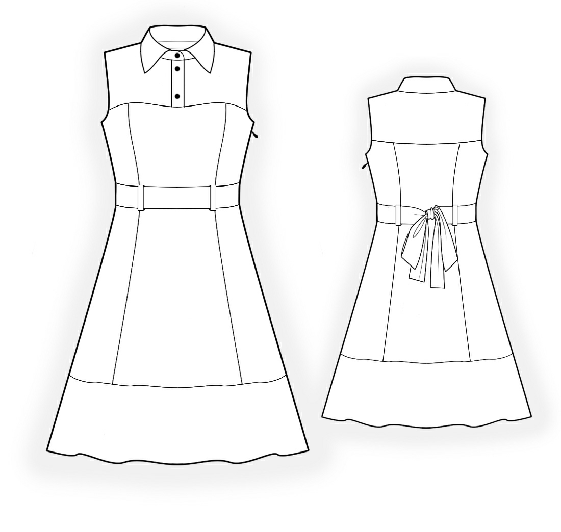 Dress - Sewing Pattern #4357. Made-to-measure sewing pattern from ...