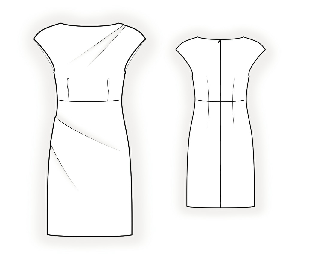Pencil Dress With Pleats Sewing Pattern 4362 Made To Measure