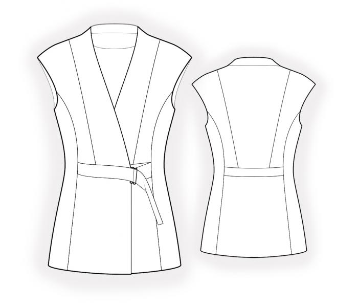 Enchanting Free Vest Pattern Sewing Photos - Easy Scarf Knitting ...