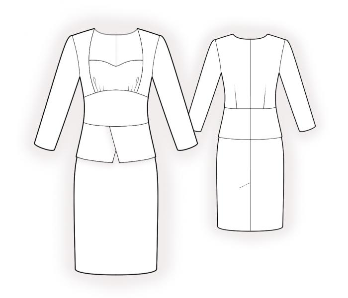 Two In One Dress - Sewing Pattern #4486. Made-to-measure sewing ...