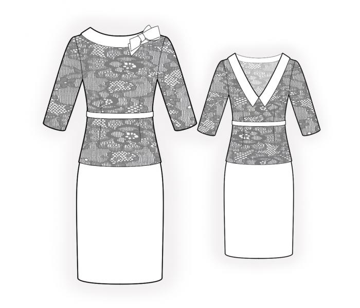Dress With Lace Bodice Sewing Pattern 4495 Made To Measure
