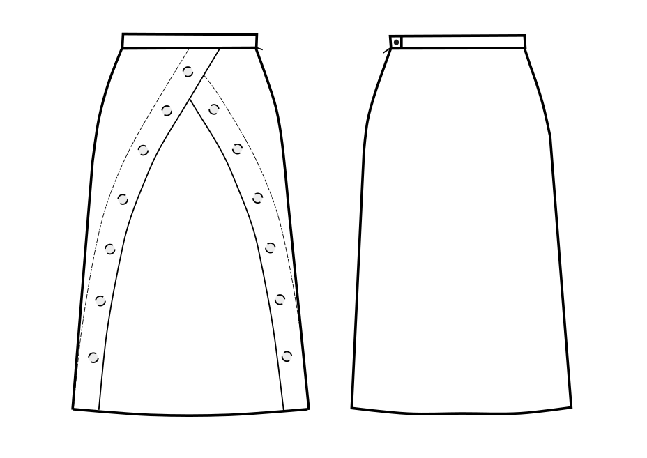 A-Line Skirt - Sewing Pattern #S3020. Made-to-measure sewing ...