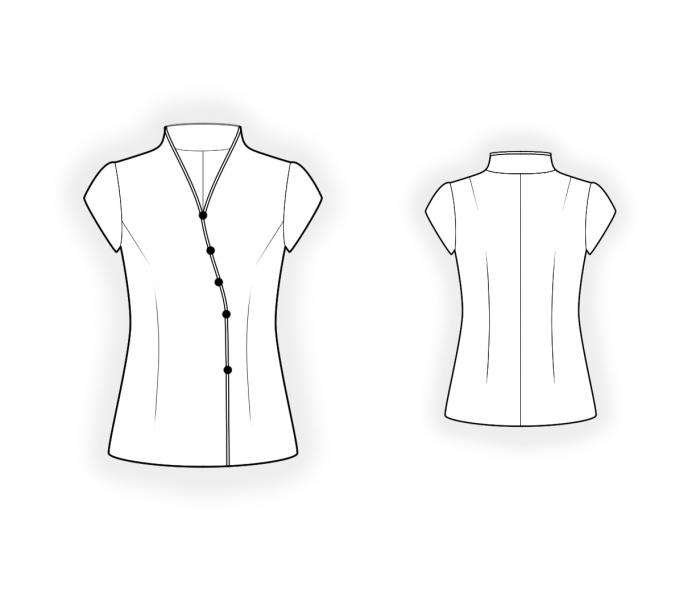 China Style Blouse Sewing Pattern 4516 Made To Measure Sewing