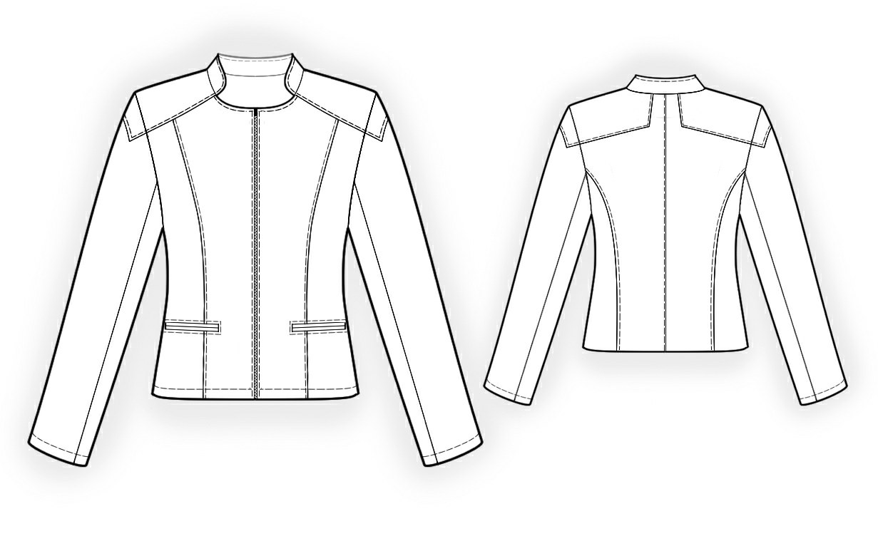 Leather Jacket - Sewing Pattern #4101. Made-to-measure sewing ...