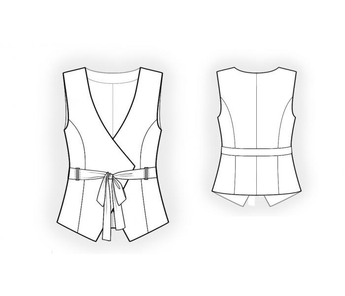 Summer Vest - Sewing Pattern #4554. Made-to-measure sewing pattern ...