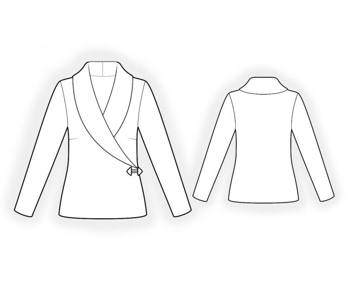 Jacket From Knit Fabric Sewing Pattern 4599 Made To Measure