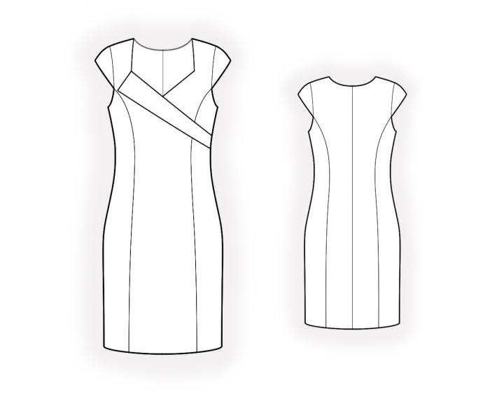 Dress With Asymmetrical Bodice Sewing Pattern 4605 Made To