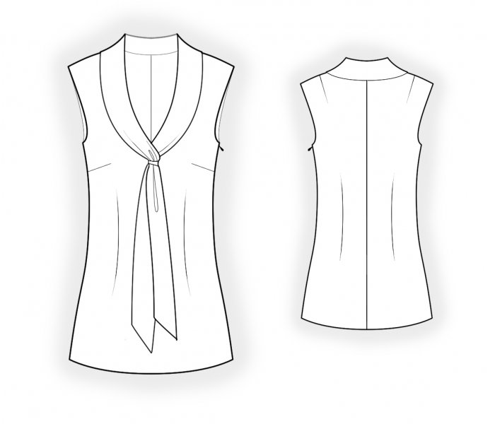 Blouse With Tie Collar Sewing Pattern 4674 Made To Measure