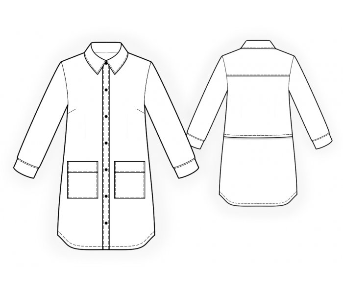 Shirt - Sewing Pattern #4725. Made-to-measure sewing pattern from ...